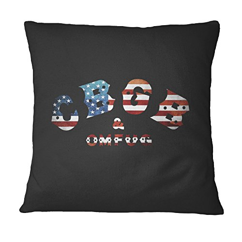 LaMAGLIERIA CB Gb Usa Flag Dekorative Kissen - Kissen Fall für Sofa Couchkissen Decorative Pillow, 40cmx40cm, Schwarz (Dekorative Flag Kissen Usa)