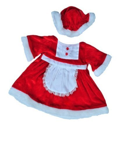 Mrs Santa Claus Christmas Dress outfit teddy bear clothes to fit 15 16 build a bear factory bears by Teddy Mountain