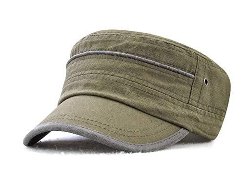 FOOKREN Herren Baseball Caps Army Military Flat Cap Sonnen Sport Kappe Sun Mütze NO-22 (Grün)