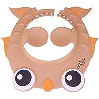 Cartoon Goldfish - Sombrero para Bañera, Visera para el Sol, Protector para el Pelo, Champú para bebé, Niños, Champú, Ducha, Gorro, Sombrero Impermeable, café, Talla única