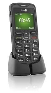 Doro PhoneEasy 510 GSM Mobiltelefon mit großem Display und großen Tasten inkl. Notruftaste schwarz