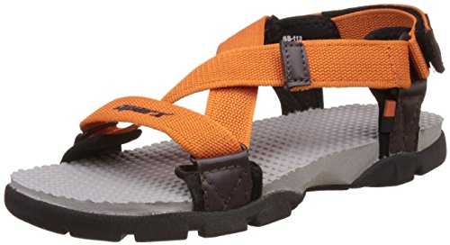 Sparx Men's Orange and Grey Sandals and Floaters - 8 UK/India (42 EU)(SS-0113)