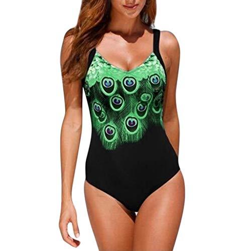 SGMORE Sexy bedruckter Badeanzug für Strand, Badeanzüge, rückenfrei - Grün - - Erstaunlich Kostüm Zum Verkauf