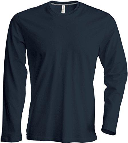 Herren T-Shirt langarm von notrash2003 (L, Dunkelgrau)