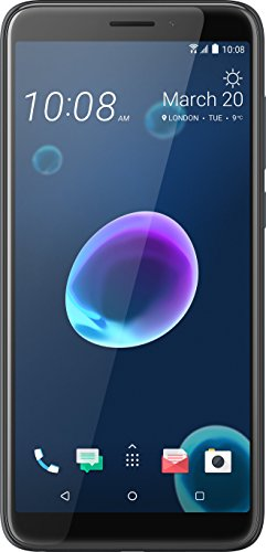 HTC Desire 12 Smartphone (14 cm (5,5 Zoll) HD+ IPS-Display, 32GB interner Speicher und 3GB RAM, Dual-Sim, Android 7) Cool Black