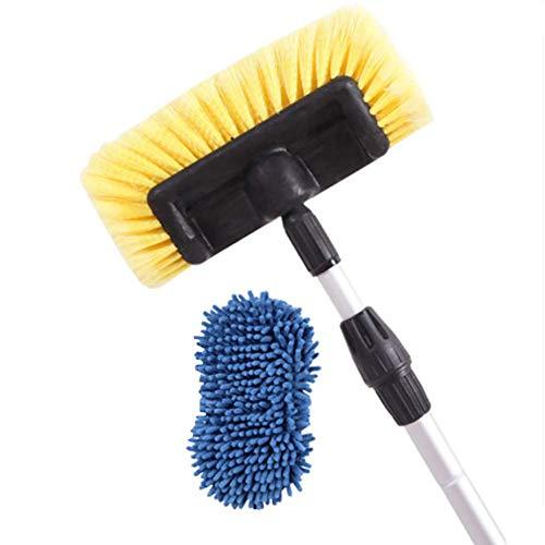 RUIX Autowaschbürste/Passables Wasser/Langer Griff Versenkbar/Autowaschwerkzeug / Weiche Bürste