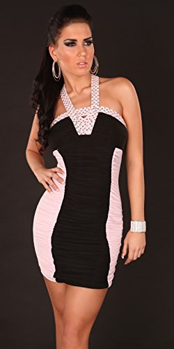 Mini robe Sexy Robe Clubbing Paillettes Taille unique 6, 8, 10–ONE Taille 34, 36, 38 Rose - Rose clair