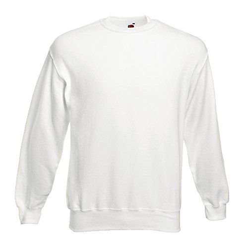 Fruit of the Loom - Sweatshirt 'Set-In' L,Weiß (Pullover Weißer)