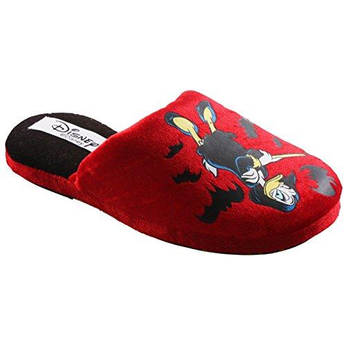 Tierhausschuhe Hausschuhe Disney Gundel Gaukeley Ducktales Plüsch Pantoffel Schlappen Original 34-41, TH-GundelGauk Rot