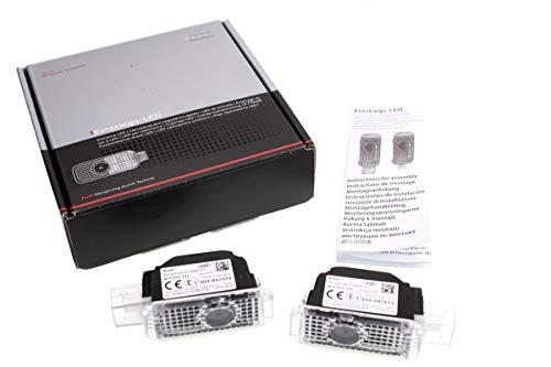 Original Audi LED Einstiegsleuchten Quattro Logo Schriftzug Türbeleuchtung Projektion 4G0052130H