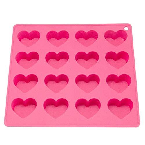 lyward 16 Grid Silicone Cake Mould Leicht Zu Nehmende Herzförmige Rote Herz-Eisgitterform Für Hohe Temperaturen, 2Er-Pack 58 Chocolate Mold