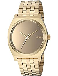 Nixon Women's 'Time Teller' Quartz Stainless Steel Casual Watch, Color:Gold-Toned (Model: A0452764)