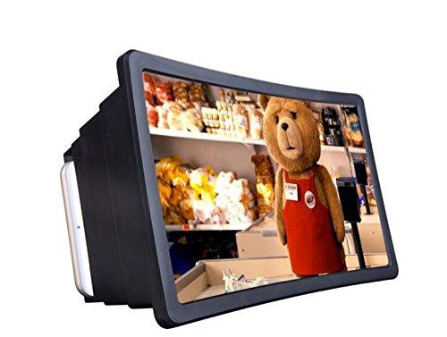 Tech4u Sucher 3d gebogen. Erweiterung Handy. Universal passend für Geräte bis 5.7Zoll Display. Faltbare. Leicht. Notebook. Ideal zum Lesen und Filme.