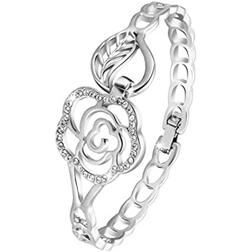 ofertas para el dia de la madre Menton ezil infinity love cristales de Swarovski pulsera para mujer pulseras chapado en oro blanco ajustable con bisagras joyería regalos