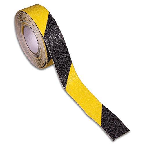BRINOX b61300a-Antirutschband Klebeband (25mm x 5m) schwarz/gelb