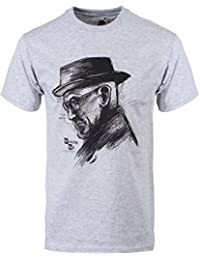 Breaking Bad Heisenberg Profile T-Shirt Gris Homme Sous Licence Officielle