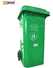Puffin Plastic Big Garbage Waste Trash Bucket Dustbin 240 LTR Green