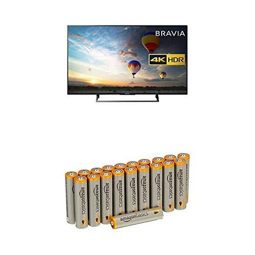 Sony BRAVIA KD49XE8004 49 Inch Smart TV - 4K HDR UHD (Black) with Amazon Basics Batteries
