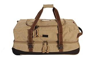 Frendo Retro Roller Bag Wheeled Holdall 65 Litres Beige beige Size:U from Frendo