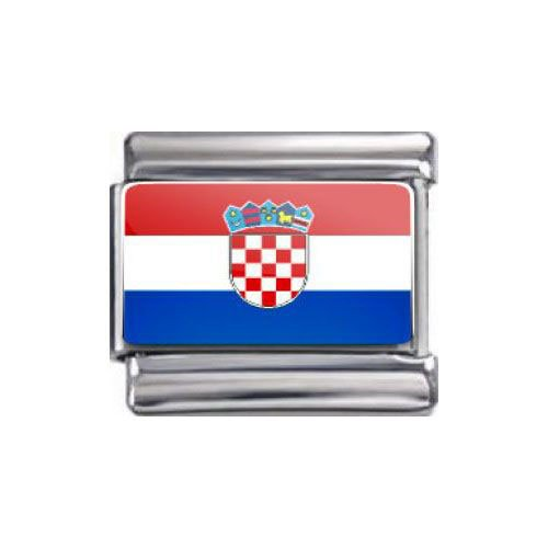 Preisvergleich Produktbild Italian Charms Modul Nationalflagge Kroatien ...by Kult-Schmuck