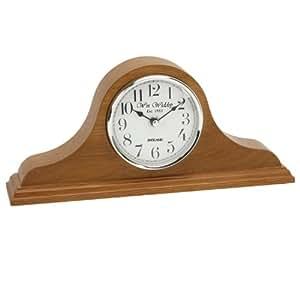 Napolean Oak Finish Wooden Quartz Mantel Clock