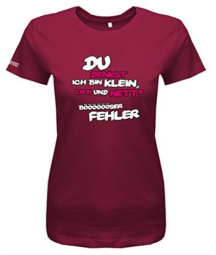 Jayess Du denkst ich Bin klein lieb und nett böser Fehler - Damen T-Shirt in Sorbet by Gr. XL