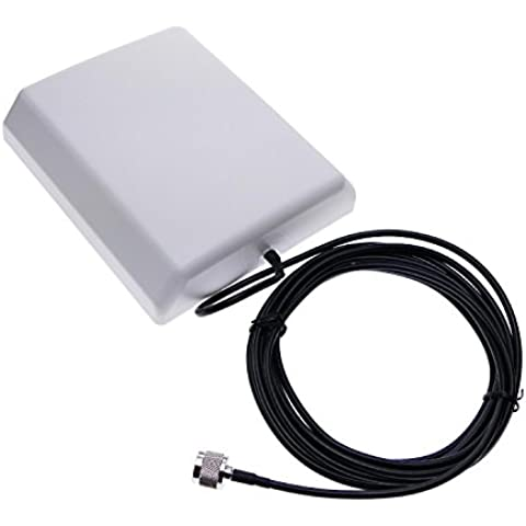 Cablematic - Antena de panel para repetidor GSM 3G de 800-2100 MHz con cable 5m conector N