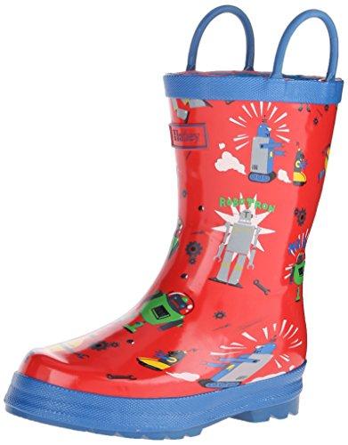 Hatley Robots, Jungen Gummistiefel, Rot (Red), 22 EU Hatley Regen Stiefel