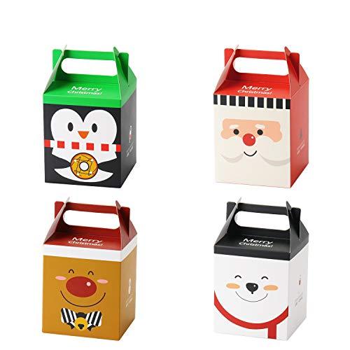 Ekkong 16 pezzi scatole regalo natale, scatoline portaconfetti, confezioni regalo dolcetti per biscotti, cioccolatini, natale, feste, compleanno, matrimonio