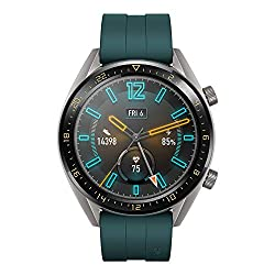 Huawei Watch GT Active Smartwatch (46 mm Amoled Touchscreen, GPS, Fitness Tracker, Herzfrequenzmessung, 5 ATM wasserdicht) Dunkelgrün