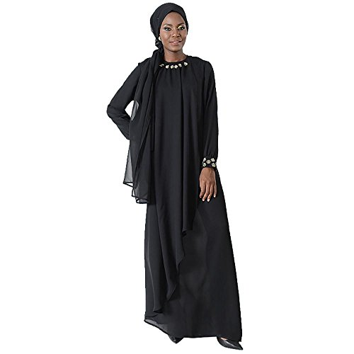 Layered Jeweled Eid Abaya Dress+Hijab