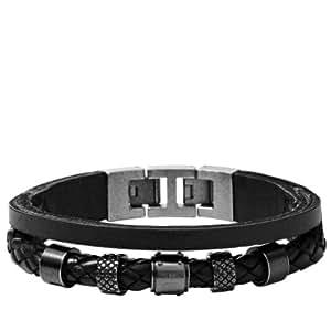 Fossil Jewelry Herren-Armband Edelstahl schwarz JF00500797