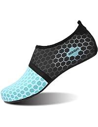 L-Run Zapatos de Agua Unisex Zapatos de Piel descalza para Run Dive Surf Swim Beach Yoga