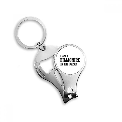 Ich bin ein Millionär in the Dream Schlüsselanhänger Ring Fuß Nail Clipper Cutter Schere Tool Kit Flaschenöffner Geschenk