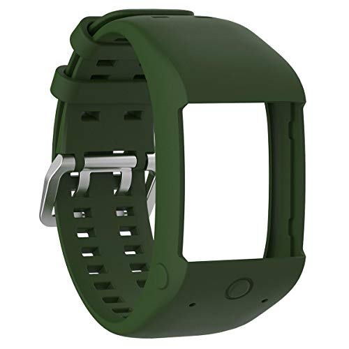 bande fit for polar m600 cinturino da polso, teepao morbido silicone wristband sport band compatibile polar m600 gps intelligente orologio sportivo, army green