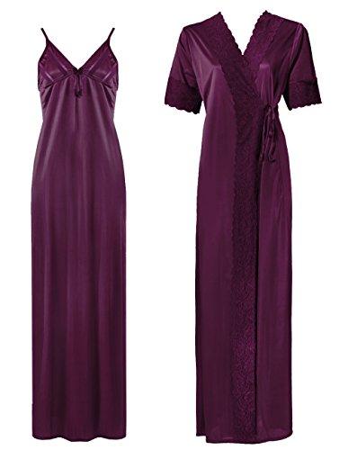 The Orange Tags - Vestaglia - Maniche corte  -  donna Dark Purple1