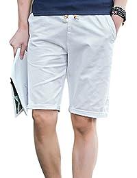 Yuanu Hombre Verano Thin Transpirable Stretch Pantalones Cortos Moda Imprimir Deportes Casual Drawstring Shorts