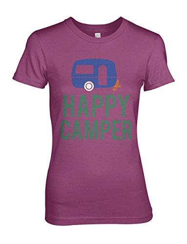 Happy Camper Komisch Traveling Damen T-Shirt Pink