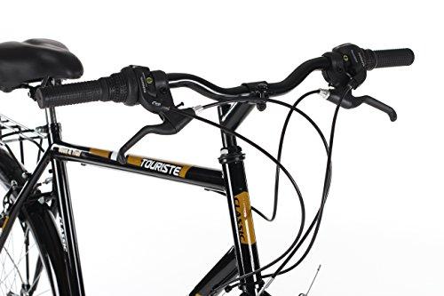 Classic Men's Touriste Commuter Bike – Black ( Wheel 700C, Frame 22 Inch)