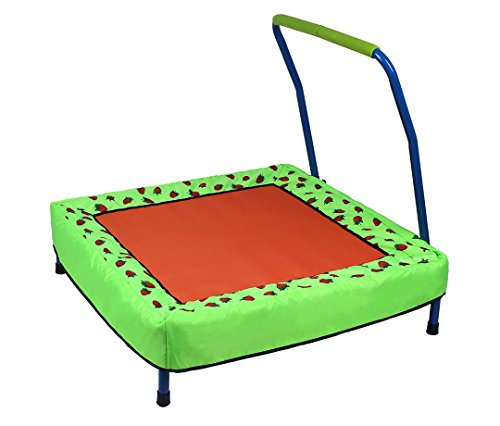 hj Folding Junior Trampoline Outdoor Indoor Baby Toys with Handle for Kids Childrens, Best for gift