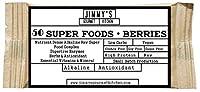 Jimmy's Gourmet Kitchen Nutritional Energy Bar (50 Super Foods in 1 Single bar)(Super Greens)(Berries)(Gluten Free Sugar Free)(50g Bar Pack of 6)