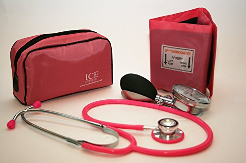 Aneroid Pink Sphygmomanometer With 1 Adult Cuff and