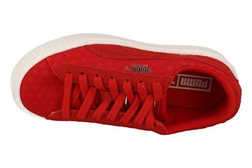 Puma Basket Platform De, Scarpe da Ginnastica Basse Donna Rosso (Toreador-toreador)