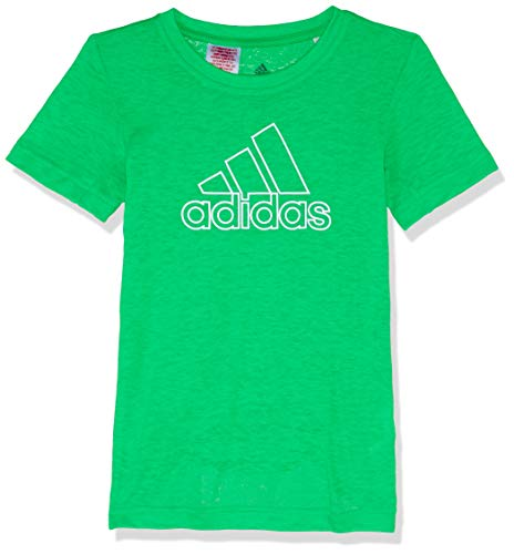adidas Jungen Training Prime Kurzarm T-Shirt, Vivid Green/White, 176 - Jungen, Die Basketball Spielen