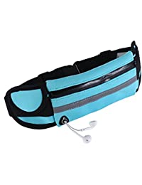 NLOKER Ultra Slim Running Belt Fitness Outdoor Sports Waist Fanny Packs, Water Resistant Reflective Adjustable...