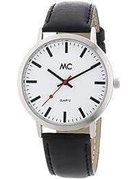 """MC Timetrend Herren-Armbanduhr """"Bahnhofsuhr"""" Analog Quarz Leder 26153"""