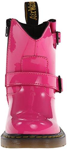 Dr. Martens Lydia, Boots mixte enfant Rose (Hot Pink Patent Lamper)