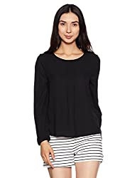 United Colors of Benetton Womens Body Blouse Shirt (17A5GR1E9710I_Black_S)