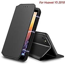 8ad9d7f04c75 AURSTORE Coque Huawei y5 2018, Pochette Housse Etui Porte Carte Fonction  Stand Video, Plusieur