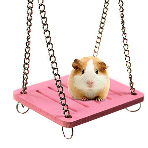 AOLVO Zwerghamsterspielzeug, Bunte Hängematte/Haus/Versteck/Bett mit Glocke für syrischen Hamster, großes Käfig-NestHabitat-Zubehör für Igel, Meerschweinchen, Zuckergleiter, Chinchilla, Blau -